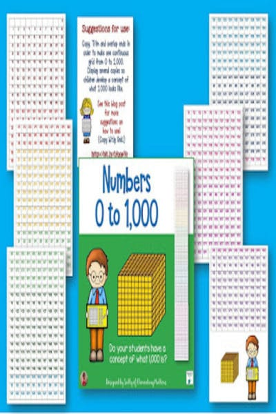 Counting to 1,000 Number Grid Freebie #math #freebie