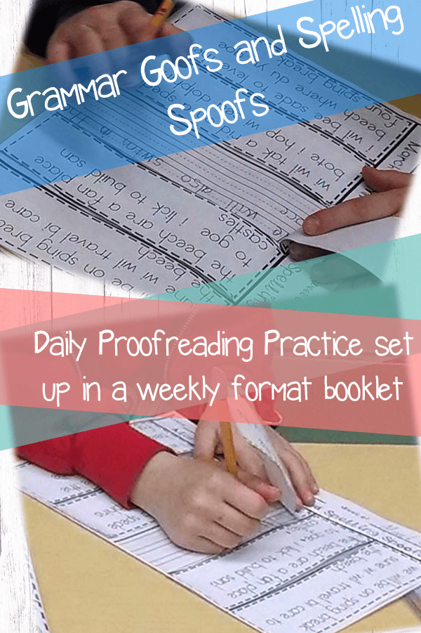 Reinforce spelling and grammar skills with these spelling and grammar practice flip books. #grammarpractice #classroomfreebies #morningwork