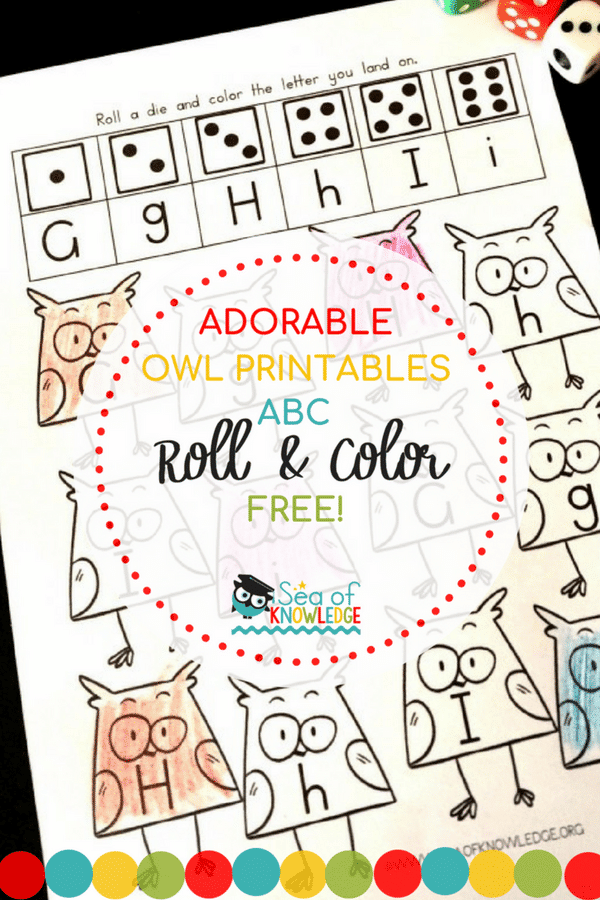 Alphabet Roll and Color Printables