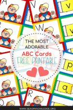 Adorable Bear Uppercase and Lowercase Alphabet Cards Free