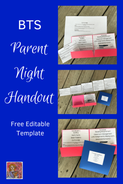 Back to School Parent Night Handout