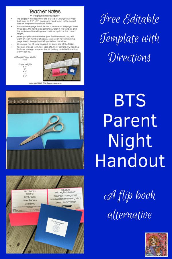 BTS parent night handout #BTS #parentnight