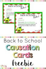 Back to School Causation Cards