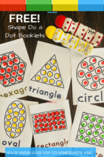 Sea of Knowledge's (123 Homeschool 4 Me) Do a Dot Printables Free – Shape Booklets