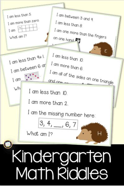 Build Number Sense with Kindergarten Math Riddles