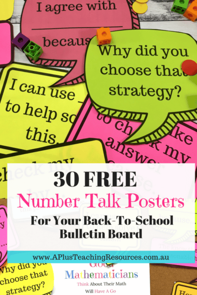 30 Free Number Talks Math Posters