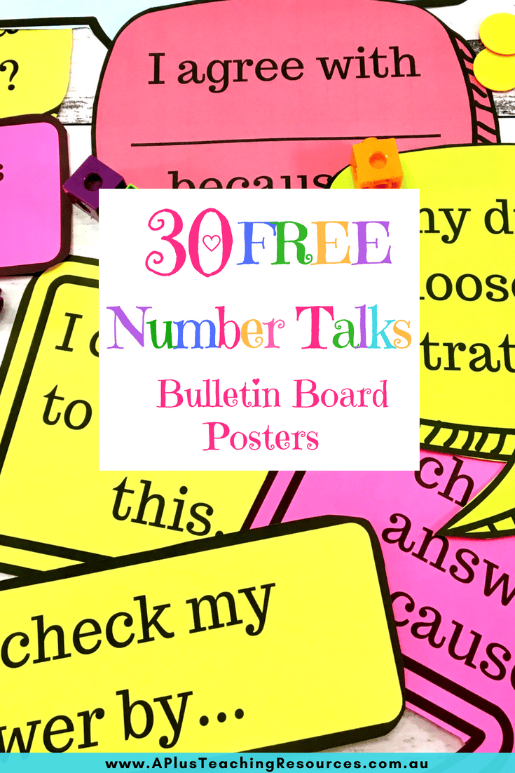 Number Talks Math Posters.If you're looking for some WOW factor classroom decor or back-to-school bulletin board ideas, try these AH-MAZING Teacher Created Ideas! So Creative! #backtoschool #teacherfreebies #teacherprintable #classroomfreebie #bulletinboard