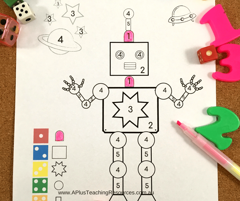 Number recognition robot FREEBIE