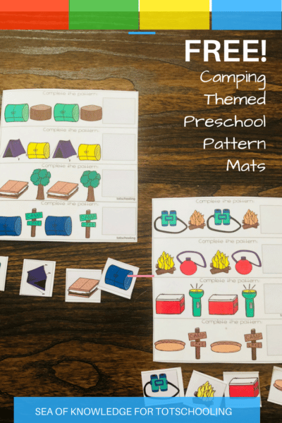Sea of Knowledge's (Totschooling) FREE Camping Pattern Mats