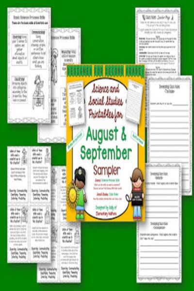 Second Grade Science and Social Studies Printables