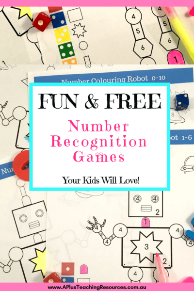 Number Recognition Robot Games