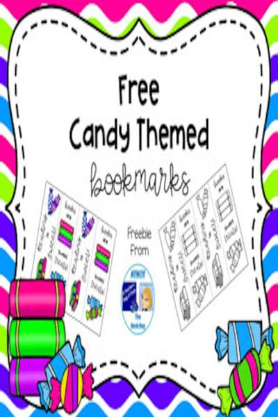Free Candy Themed Bookmarks #reading #free