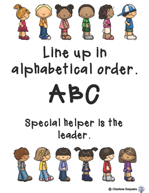 Free lining up tips for positive classroom management