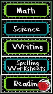 classroom subject labels terri's teaching treasures