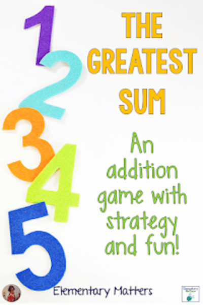 The Greatest Sum #math #game