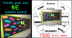 Free BE bulletin board word labels Terri's Teaching Treasures