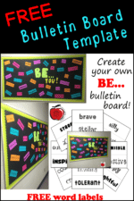 "FREE ""BE"" Bulletin Board Word Labels"