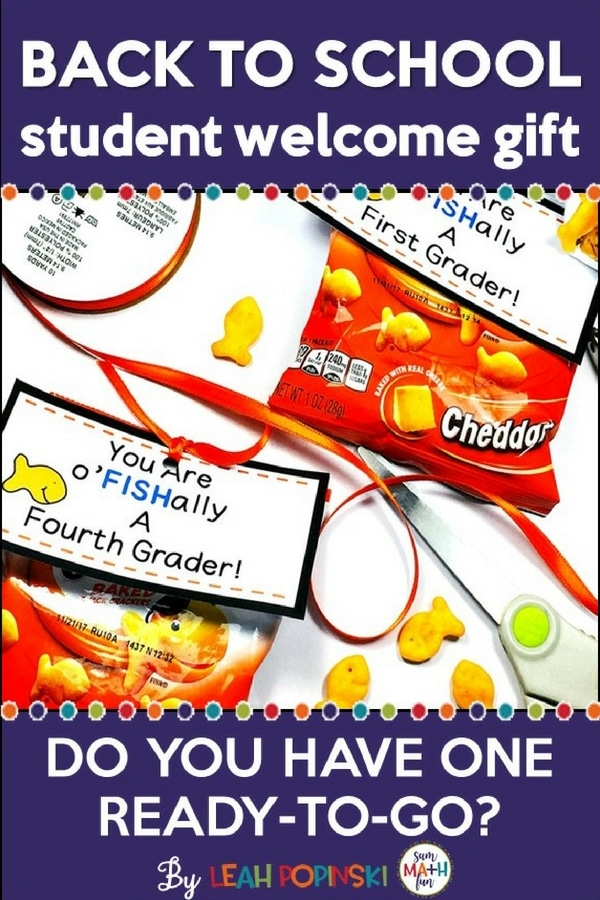 A free gift tag for a super cute and easy back to school student welcome gift that your kids will love!
