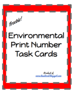Environmental Print Number Task Cards
