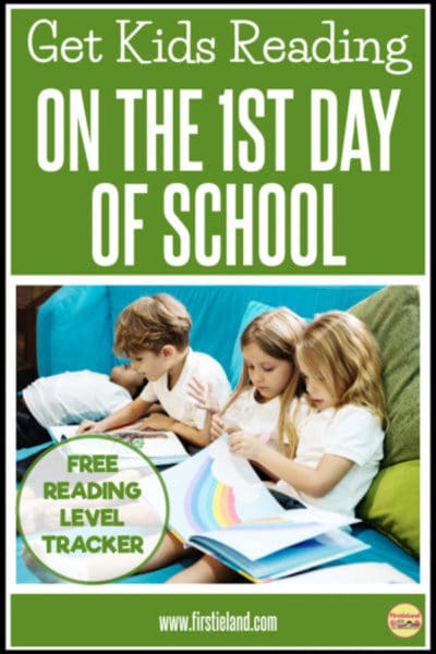 READ TO SELF ON THE FIRST DAY OF SCHOOL!