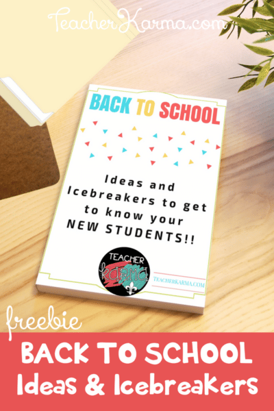 Free Ideas and Icebreakers Guide for Back to School #backtoschool #icebreakers #teacherspayteachers #BTS #backtoschoolresources