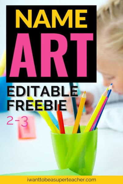 Back to School Name Art Freebie: Fun, Easy & Editable!