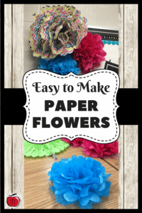 Instructions for making tissue paper flowers for your classroom or bulletin boards Terri's Teaching Treasures