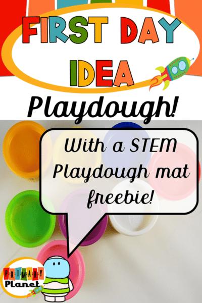 Fun back to school idea with a fun playdough mat freebie! #backtoschool #playdoughmats
