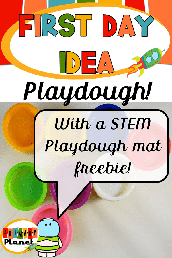 Fun back to school idea with a fun playdough mat freebie! #backtoschool #playdoughmats
