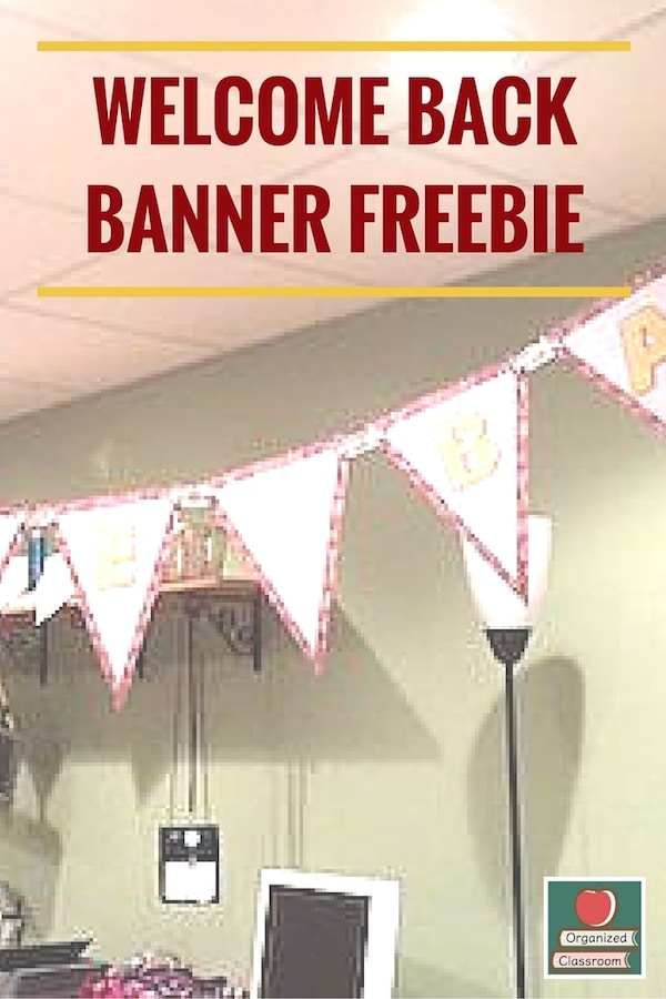 I whipped up a little freebie for you to use to welcome students, parents, and staff back-to-school! Simply print, cut, and string! Enjoy! #backtoschool #welcomebanner