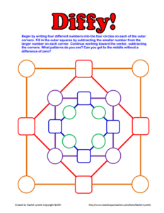 Encourage your students to practice subtraction and logic by playing a fun math game called Diffy! This game helps students hone their skills in subtraction, logic, and pattern recognition, and it can be used in all grade levels. Click through to download this free math resource now!