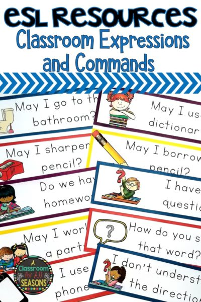 ESL Common Classroom Expressions