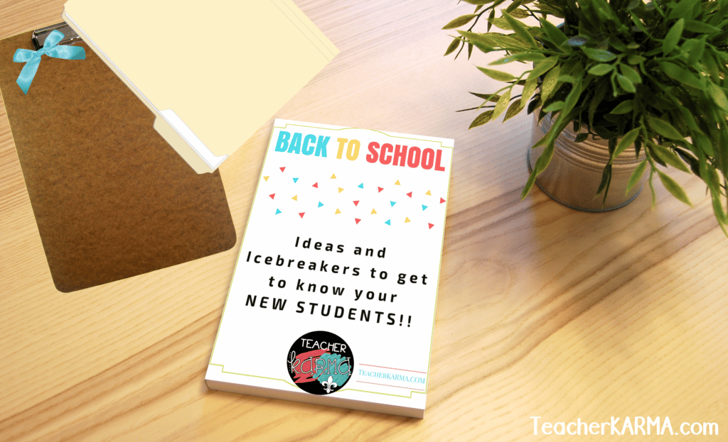 FREE Ideas and Icebreakers Guide for Back to School #backtoschool #icebreakers #teacherspayteachers