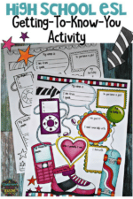 ESL Getting to Know You Activity for High School