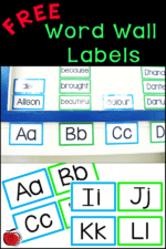 Word Wall Labels For Your Classroom -FREE!