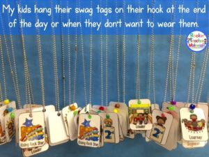 Classroom Management tool for organizing Swag Tags.