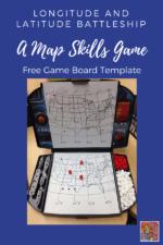 Longitude and Latitude Map Skills Battleship Game