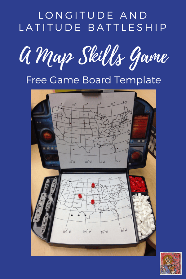 longitude and latitude Battleship map skills game