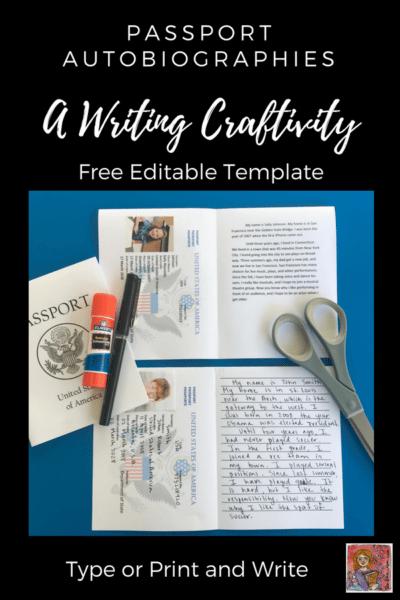 passport autobiography writing activity #studentwriting #personalnarrative