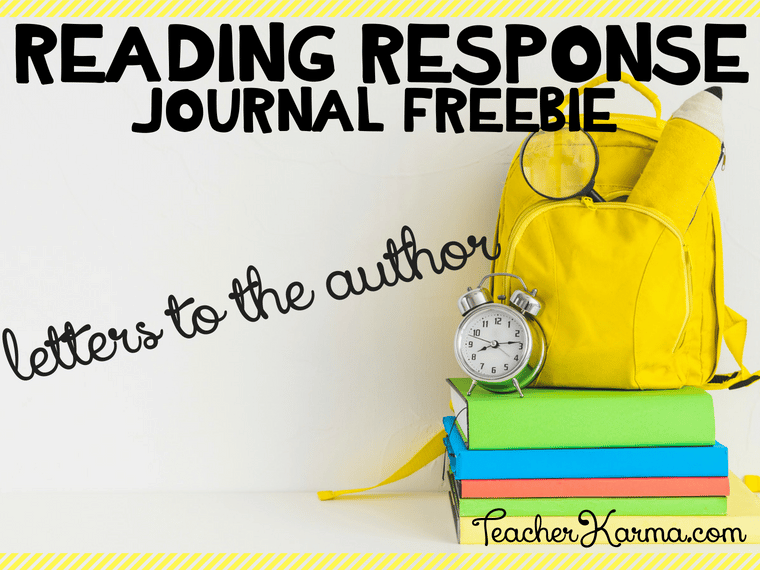 Free reading response journal with letters to the author #readingresponsejournal #interactivejournal #journals #reading