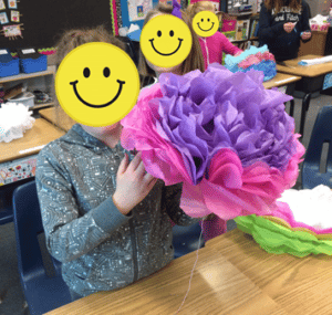 Instructions for making tissue paper flowers for your classroom or bulletin boards Terri's Teaching Treasures #tissuepaperflowers #classroomdecor