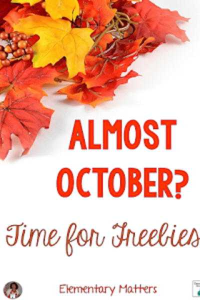 October Freebies #classroomfreebies
