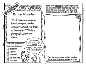 Free Halloween Writing Prompts - Classroom Freebies