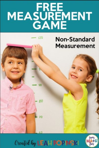measurement-free-game-non-standard #measurement #firstgrade #game #measurementgame