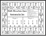 Math Mountain Race Game board