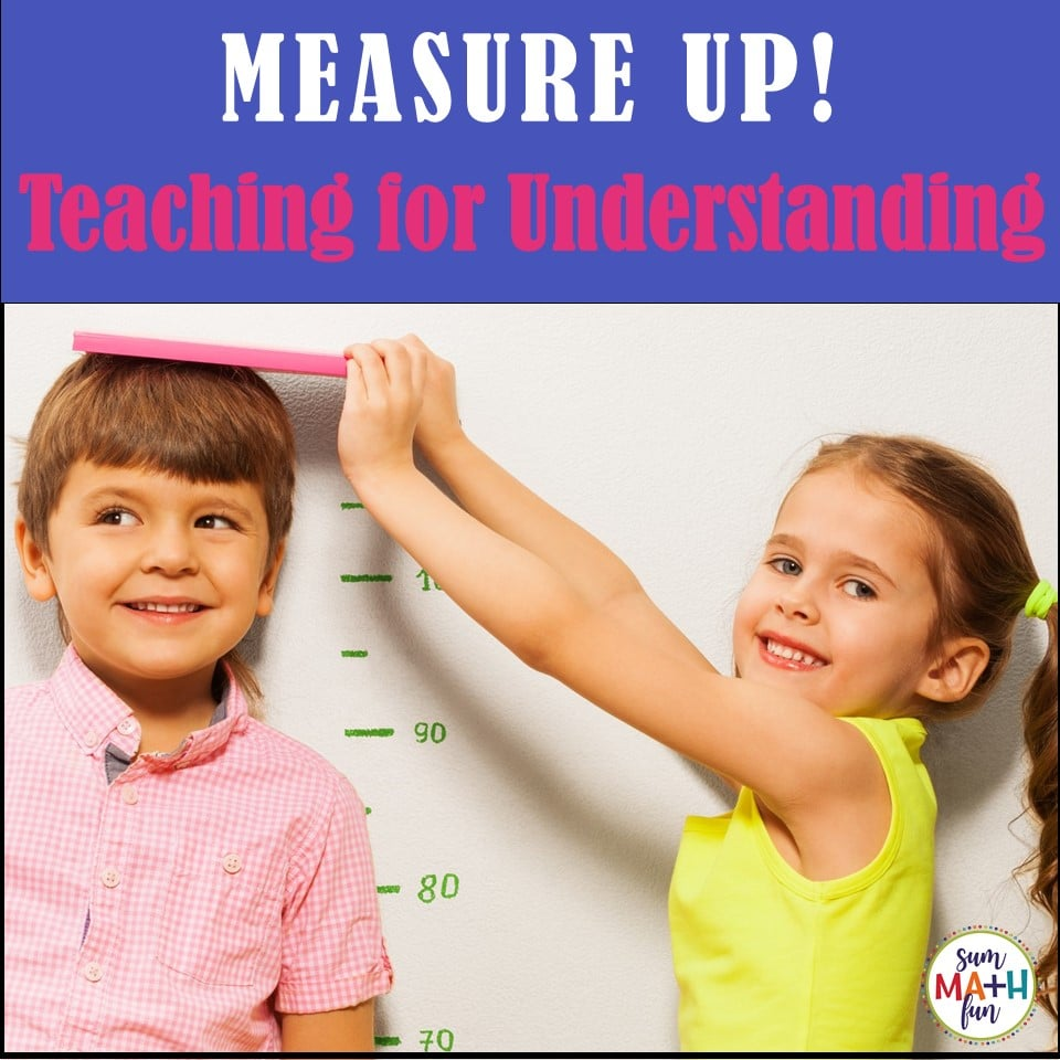 "Fun measurement for first grade! Students love ""measuring the room"" as they practice measurement using worksheets that go along with hands-on activities. #measurement #firstgrade #game #measurementgame"