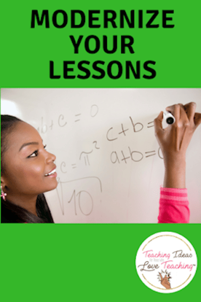 Modernize Your Lessons #lessonplanning #teaching