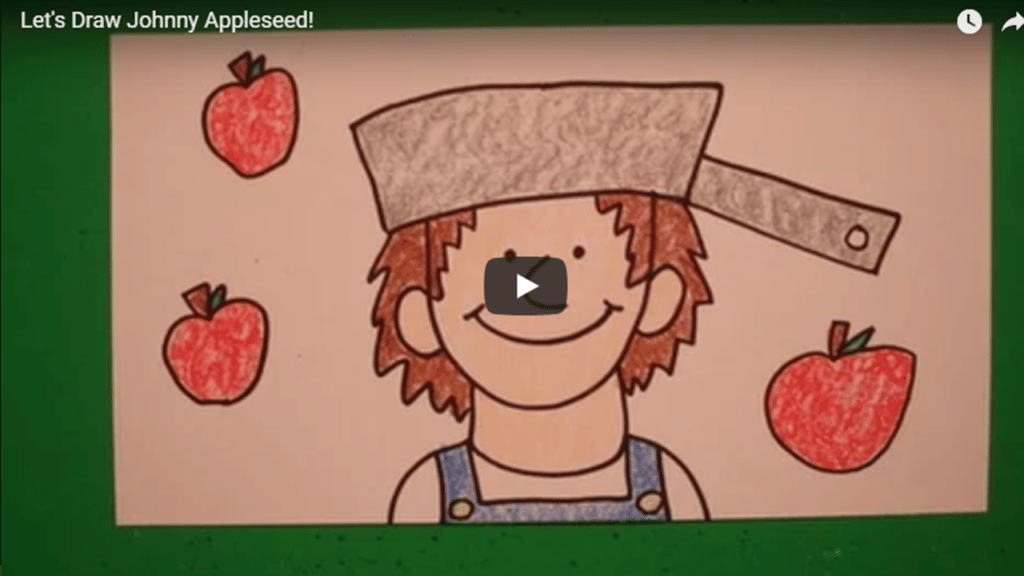 johnny appleseed directed drawing