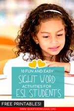 10 Fun and Easy Activities to Teach Sight Words for ESL Students