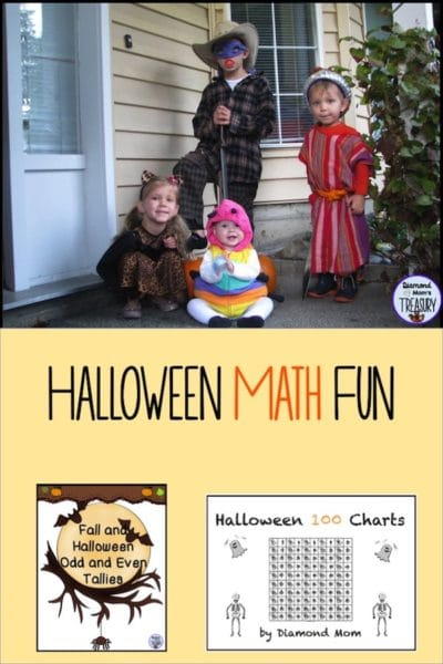 Free math games and activities for fall and Halloween fun. #classroomfreebies #Halloween #mathfreebies